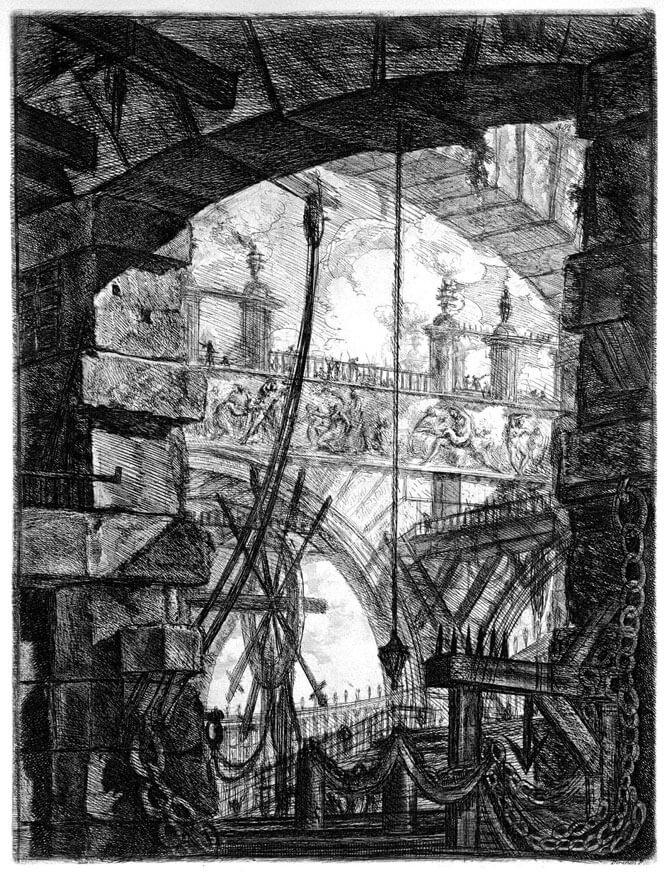 carceri di invenzione - tavola IV